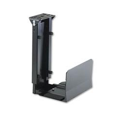 Safco Ergo-Comfort Fixed-Mount Under Desk CPU Holder, 7w x 9.5d x 14h, Black
