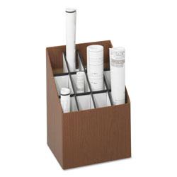 Safco Corrugated Roll Files, 12 Compartments, 15w x 12d x 22h, Woodgrain