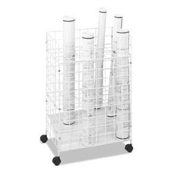 Safco Wire Roll Files, 24 Compartments, 21w x 14.25d x 31.75h, White