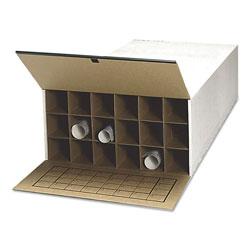 Safco Tube-Stor Fiberboard Files, Blueprints/Roll Files, 24 in x 37.5 in x 12 in, White, 2/Carton