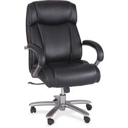 Safco Big & Tall Chair,500 lb. Cap, 29 in x 31 in x 44-3/4 in-48-1/2 in, Black