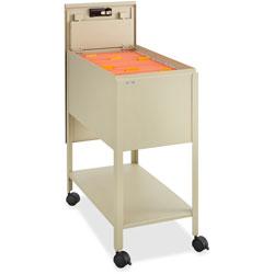 Safco Standard File Cart with Locking Door, Beige