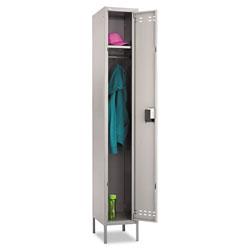 Safco Single-Tier Locker, 12w x 18d x 78h, Two-Tone Gray