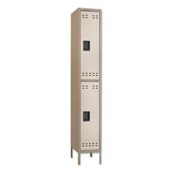 Safco Double-Tier Locker, 12w x 18d x 78h, Two-Tone Tan