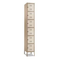 Safco Box Locker, 12w x 18d x 78h, Two-Tone Tan