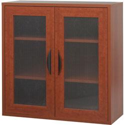 Safco Après Two-Door Cabinet, 30w x 12d x 30h, Cherry