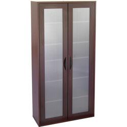 Safco Après Tall Two-Door Cabinet, 30w x 12d x 60h, Mahogany