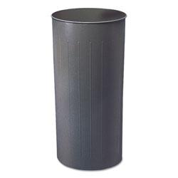Safco Round Wastebasket, Steel, 22gal, Charcoal