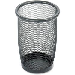 Safco Onyx Round Mesh Wastebasket, Steel Mesh, 3qt, Black