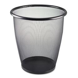 Safco Onyx Round Mesh Wastebasket, Steel Mesh, 5 gal, Black