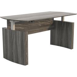 Safco Base for Curved Adj Desk, 27-5/8 inx28-3/8 inx29-1/2 in-47-1/4 in, Walnut