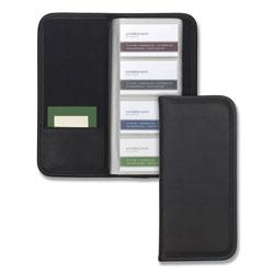 Samsill Professional Vinyl Business Card File, 160 Card Cap, 2 x 3 1/2 Cards, Black