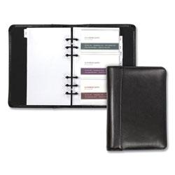 Samsill Regal Leather Business Card Binder, 120 Card Capacity, 2 x 3 1/2 Cards, Black