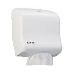 San Jamar Ultrafold Towel Dispenser for C-Fold/Multifold Towels, 11.5 x 6x 11.5, White