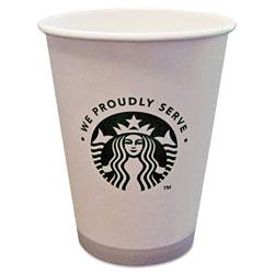 Starbucks Hot Cups, 12oz, White with Green Logo, 1000/Carton