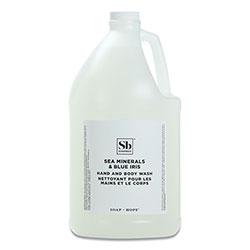Soapbox Hand Soap, Sea Minerals and Blue Iris, 1 gal Bottle, 4/Carton