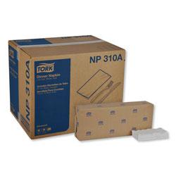 Tork Advanced Dinner Napkins, 2 Ply, 15 in x 16.25 in, 1/8 Fold, White, 375/Packs, 8 Packs/Carton