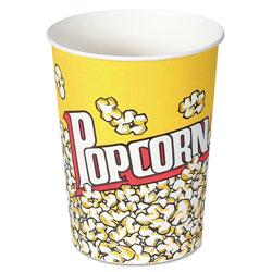 Solo Paper Popcorn Cup, 32 oz, Popcorn Design, 50/Pack
