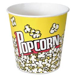 Solo Paper Popcorn Bucket, 85 oz, Popcorn Design, 15/Pack