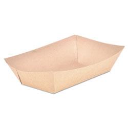 SCT Food Trays, Paperboard, Brown Kraft, 5-Lb Capacity, 500/Carton