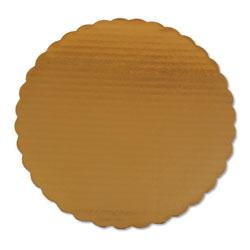 SCT Cake Pads, 10 in Dia, Gold, 200/Carton