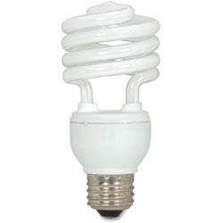 Satco CFL Spiral Bulb, 18 Watts, 3/Pack