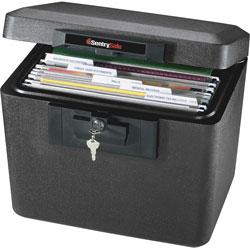 Sentry Security Fire File, 15-1/4 in x 12-1/8 in x 13-9/16 in, Black