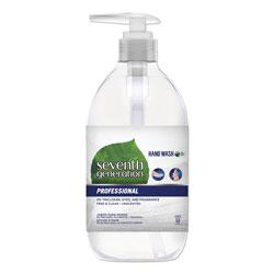 Seventh Generation Natural Hand Wash, Free & Clean, Unscented, 12 oz Pump Bottle, 8/Carton