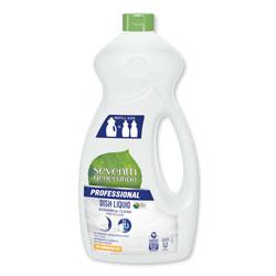 Seventh Generation Dishwashing Liquid, Free and Clear, Jumbo 50 oz Bottle, 6/Carton