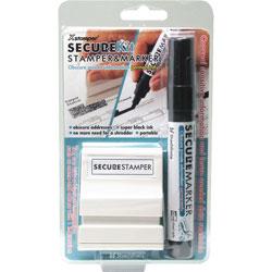 "Shachihata. U.S.A. Secure Stamp S10 w/Marker, 1/2"" x 1 11/16"", Black"