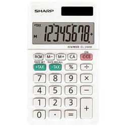 Sharp 8-Digit Pocket Calculator, White