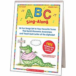 Scholastic Sing-A-Long Flip Chart, w/CD, ABC, GR PreK-1