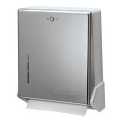 San Jamar True Fold C-Fold/Multifold Paper Towel Dispenser, Chrome, 11 5/8 x 5 x 14 1/2