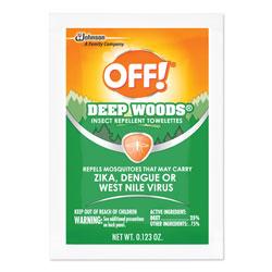 OFF! Deep Woods Towelettes, 12/Box, 12 Boxes per Carton