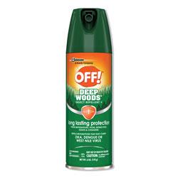 OFF! Deep Woods Insect Repellent, 6oz Aerosol, 12/Carton