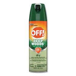 OFF! Deep Woods Dry Insect Repellent, 4oz, Aerosol, Neutral, 12/Carton