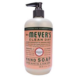Mrs. Meyer's® Clean Day Liquid Hand Soap, Geranium, 12.5 oz, 6/Carton
