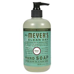 Mrs. Meyer's® Clean Day Liquid Hand Soap, Basil, 12.5 oz, 6/Carton