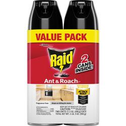 Raid Ant And Roach Spray, 17.5oz., 2/PK, Fresh Scent