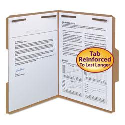 Smead Top Tab 2-Fastener Folders, 1/3-Cut Tabs, Letter Size, 11 pt. Kraft, 50/Box