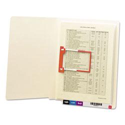Smead Heavyweight Manila Reinforced End Tab Folders with U-Clip, Straight Tab, Letter Size, 50/Box