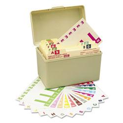 Smead AlphaZ Color-Coded Labels Starter Set, A-Z, 1.16 x 3.13, Assorted, 5/Sheet, 300 Sheets/Box