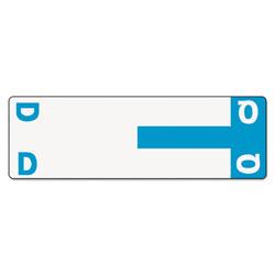 Smead AlphaZ Color-Coded First Letter Combo Alpha Labels, D/Q, 1.16 x 3.63, Light Blue/White, 5/Sheet, 20 Sheets/Pack