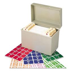 Smead AlphaZ Color-Coded Labels Starter Set, A-Z, 1 x 1.63, Assorted, 10/Sheet, 220 Sheets/Box