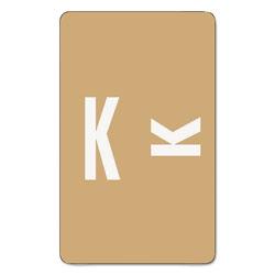 Smead AlphaZ Color-Coded Second Letter Alphabetical Labels, K, 1 x 1.63, Light Brown, 10/Sheet, 10 Sheets/Pack