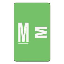 Smead AlphaZ Color-Coded Second Letter Alphabetical Labels, M, 1 x 1.63, Light Green, 10/Sheet, 10 Sheets/Pack