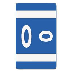 Smead AlphaZ Color-Coded Second Letter Alphabetical Labels, O, 1 x 1.63, Dark Blue, 10/Sheet, 10 Sheets/Pack