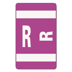 Smead AlphaZ Color-Coded Second Letter Alphabetical Labels, R, 1 x 1.63, Purple, 10/Sheet, 10 Sheets/Pack