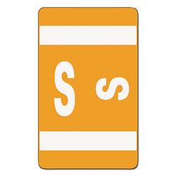 Smead AlphaZ Color-Coded Second Letter Alphabetical Labels, S, 1 x 1.63, Orange, 10/Sheet, 10 Sheets/Pack