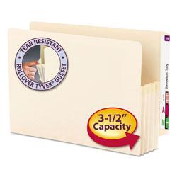 Smead Manila End Tab File Pockets, 3.5 in Expansion, Legal Size, Manila, 25/Box